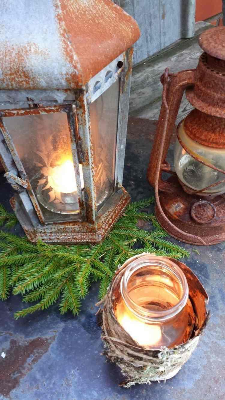 tarros cristal decora navidad estilo rustico cuerda ideas