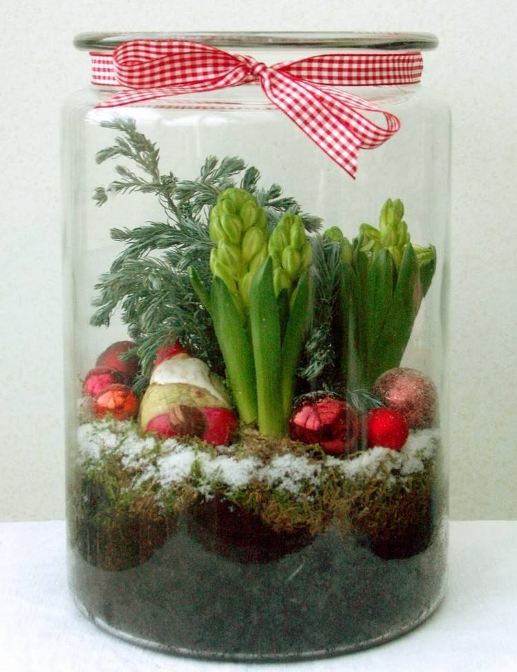 tarros cristal decora navidad grande lleno plantas ideas