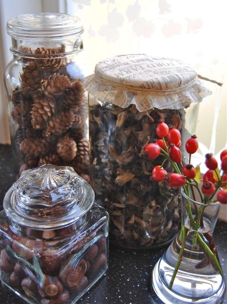 tarros cristal decora navidad grandes llenos pinas ideas
