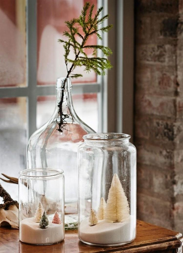 tarros cristal decora navidad grandes transparentes arboles navidad dentro ideas