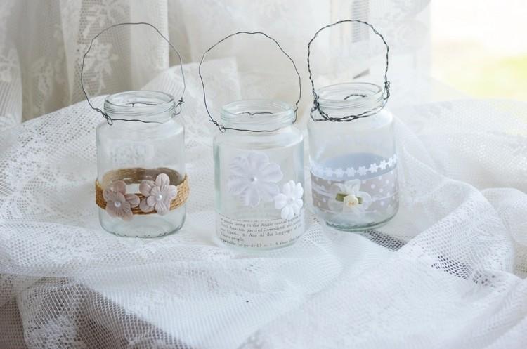 tarros cristal decora navidad lazos flores ideas