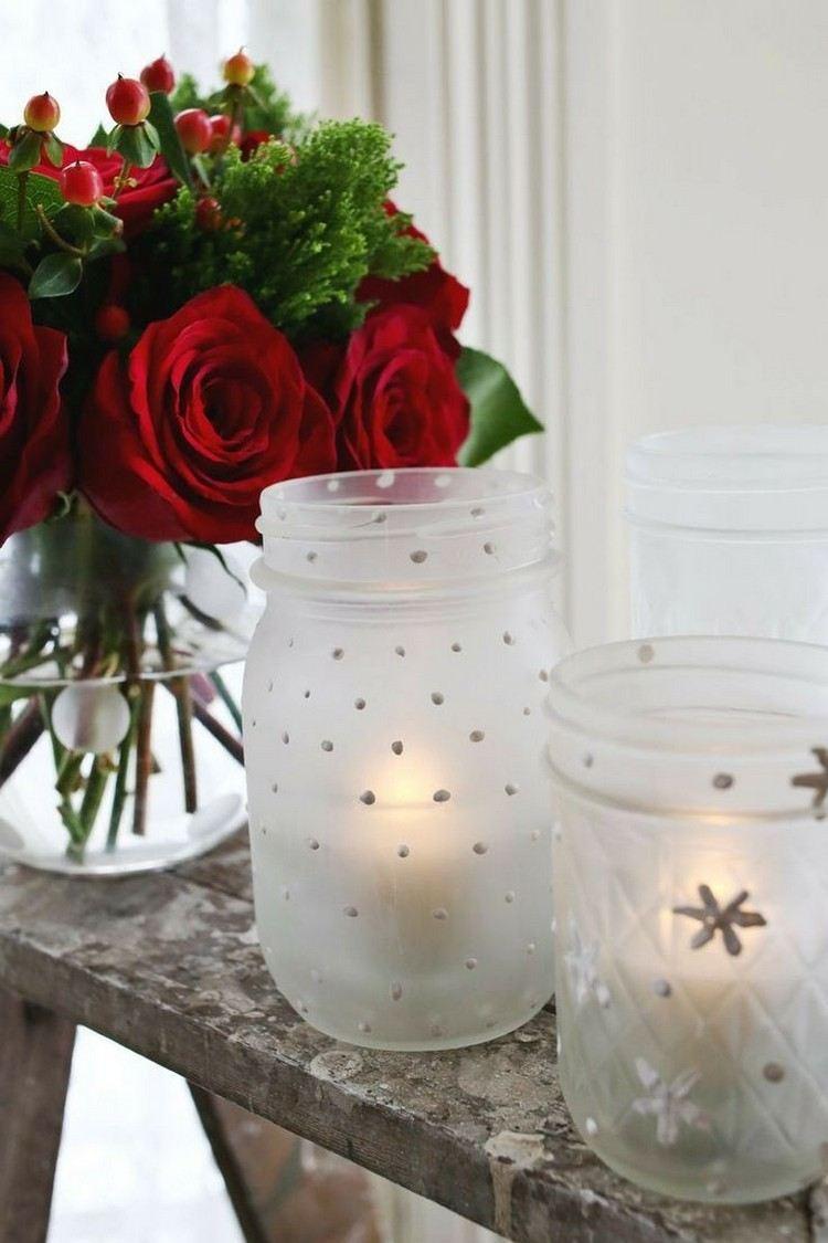 tarros cristal decora navidad puntos blancos velas ideas