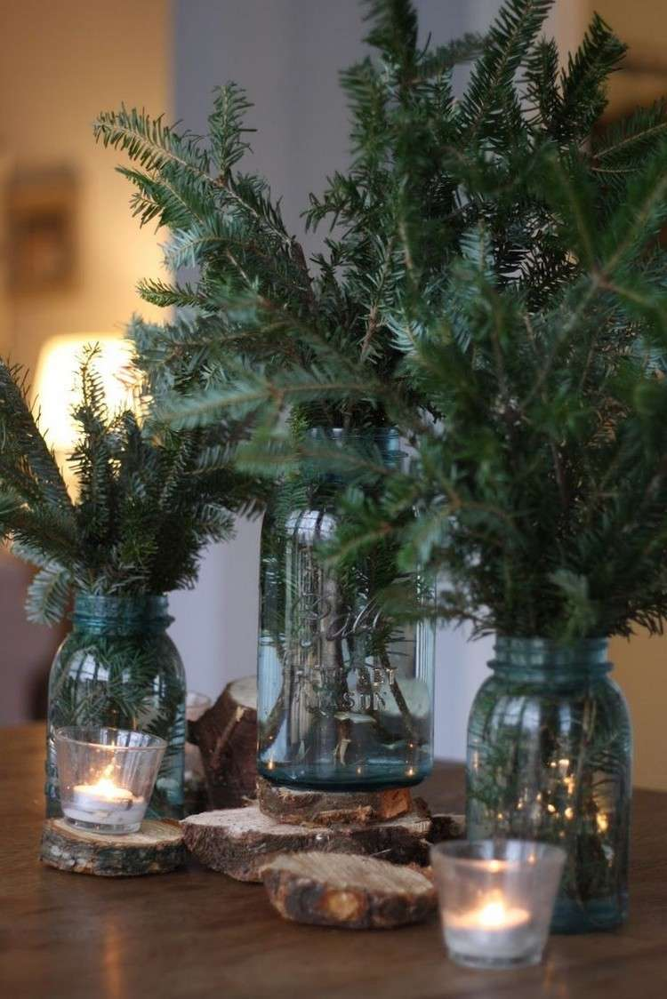 tarros cristal decora navidad ramas arbol navidad ideas