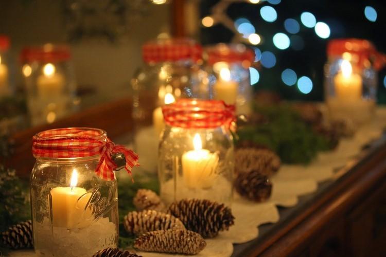 tarros de cristal decorativos lazos campanillas pequenas ideas