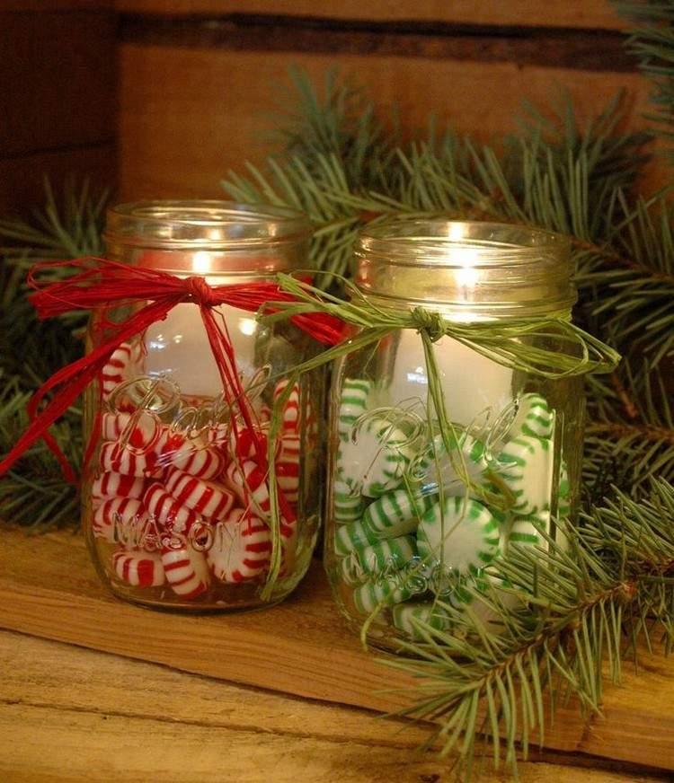 Tarros de cristal decorativos 25 ideas para la navidad - Como hacer lazos decorativos ...