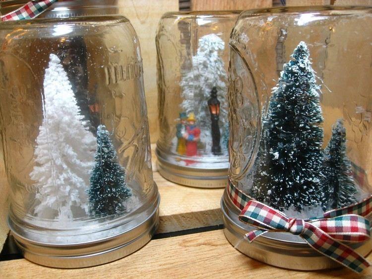 Como Decorar Jarrones Navide?os ~ tarros cristal decorativos transparente arbol navidad dentro ideas