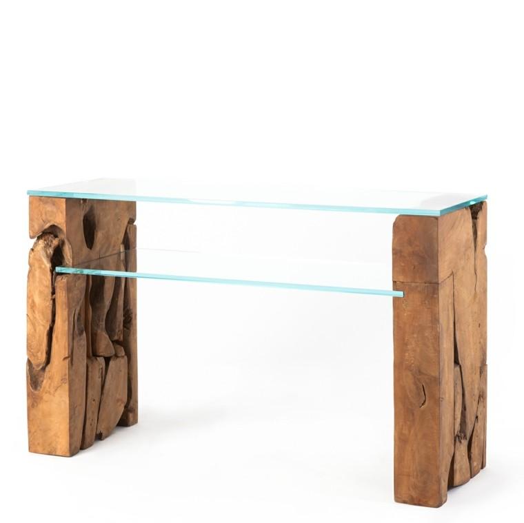 teca madera cristal trabajo rustica