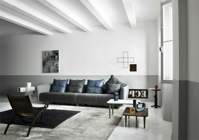 techo blanco lineas horizontal alfombra