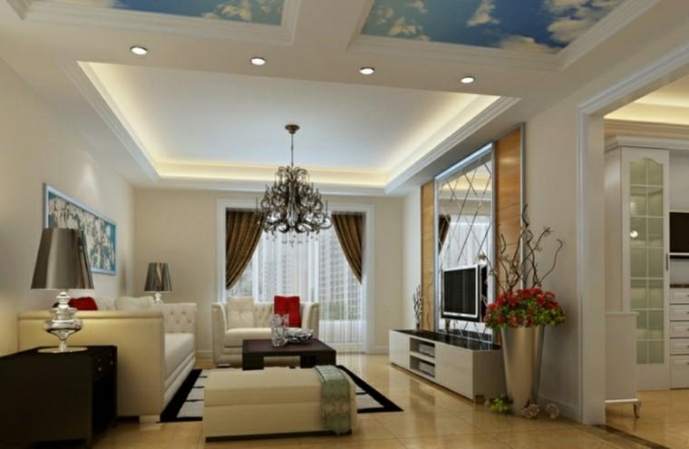 Falso techo de dise o moderno cincuenta modelos for Techo de escayola decoracion simple