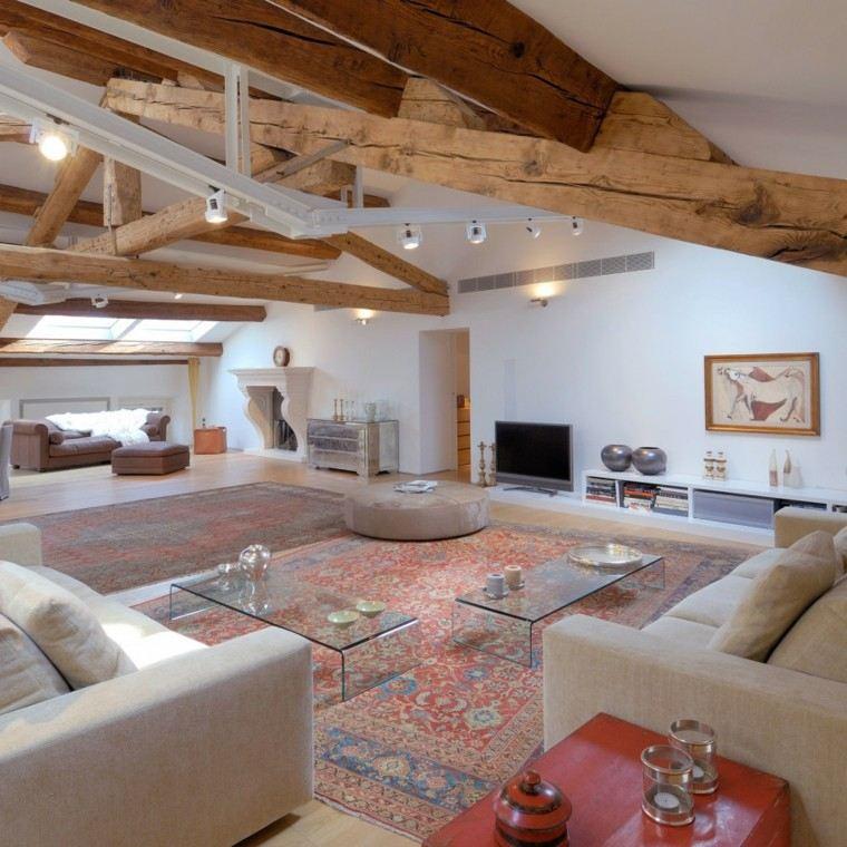 techo estilo rustico vigas madera