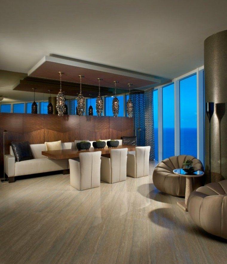 techos lamparas colgantes moderna madera
