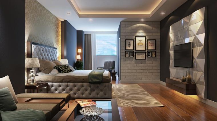 televisor textura paredes dorado madera