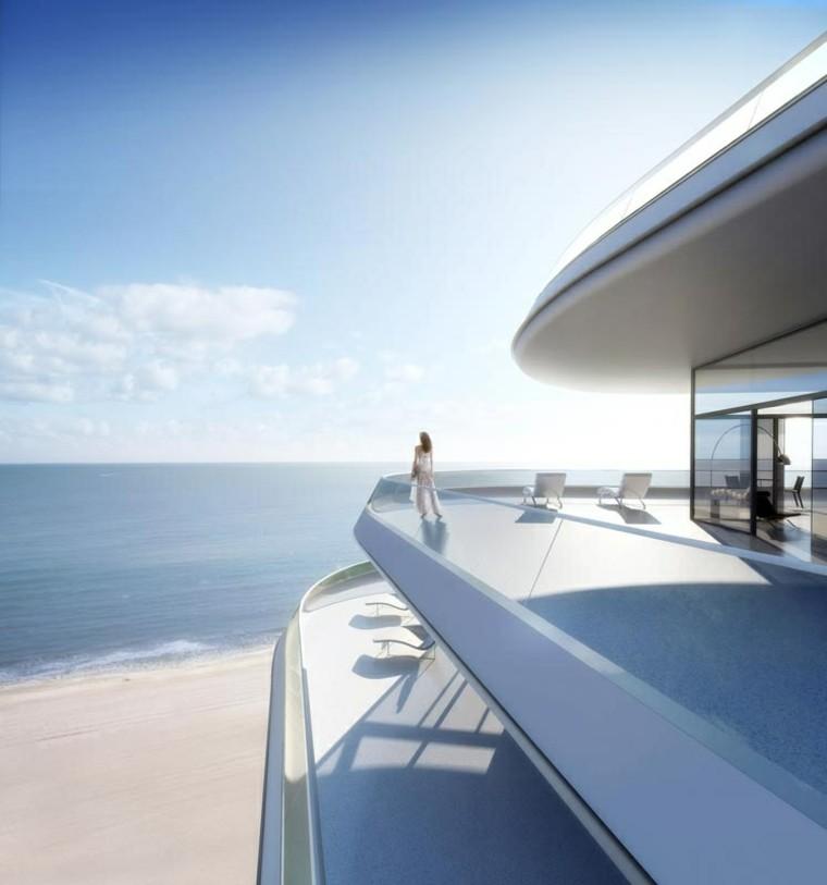 terraza moderna suelo liso