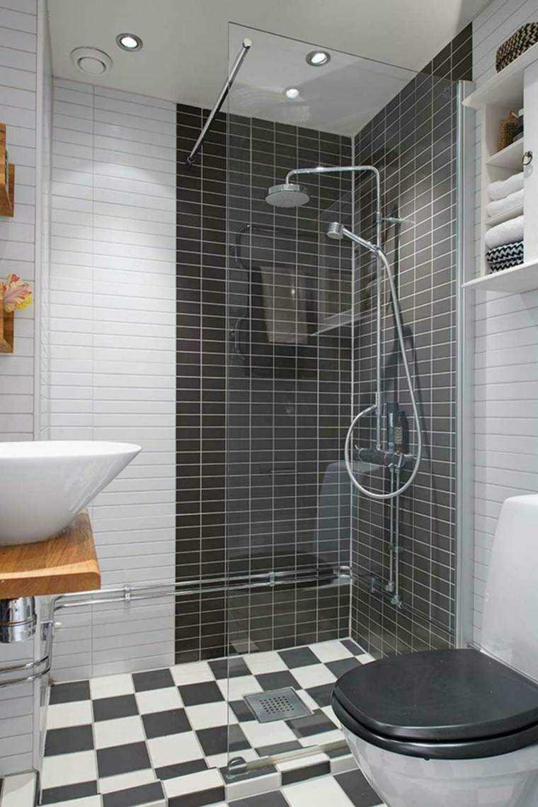 tonos grises azulejos baño blanco
