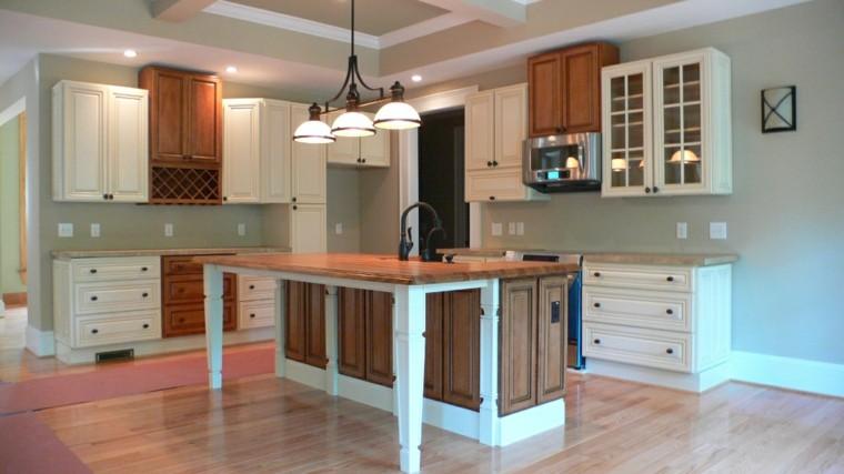 tonos grises verdosos cocinas modernas