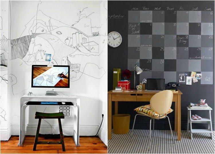 trabajar desde casa grises colorido paredes