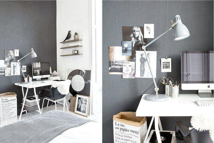 trabajar desde casa grises paredes lamparas