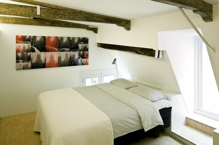 troncos techo manera cuadro colores