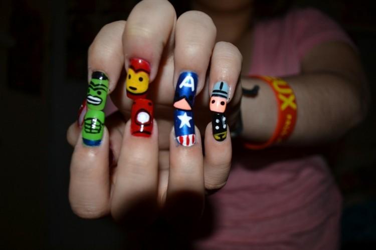 uñas pintadas superheroes comics