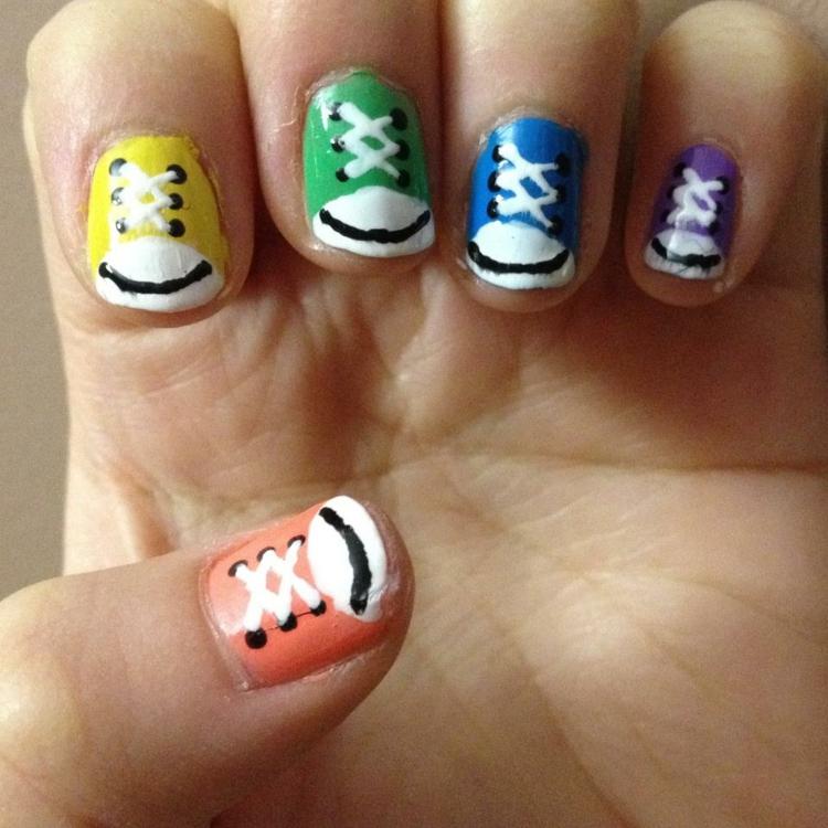 How To Do Toe Nail Art Designs For Beginners At Home : Decoracion de u?as cincuenta ideas moda