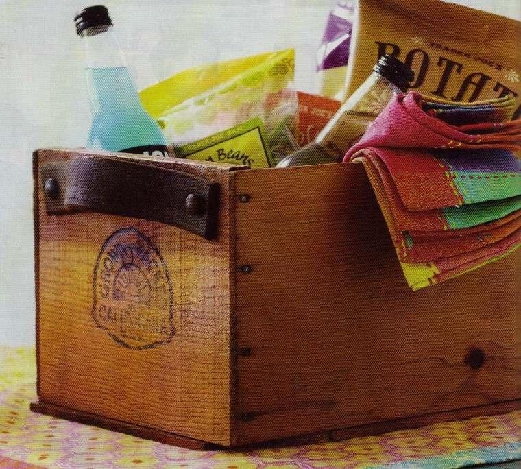 usar cajas fruta madera deco