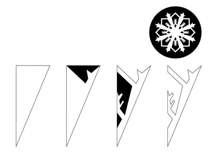 variacion copo nieve doblado detalles