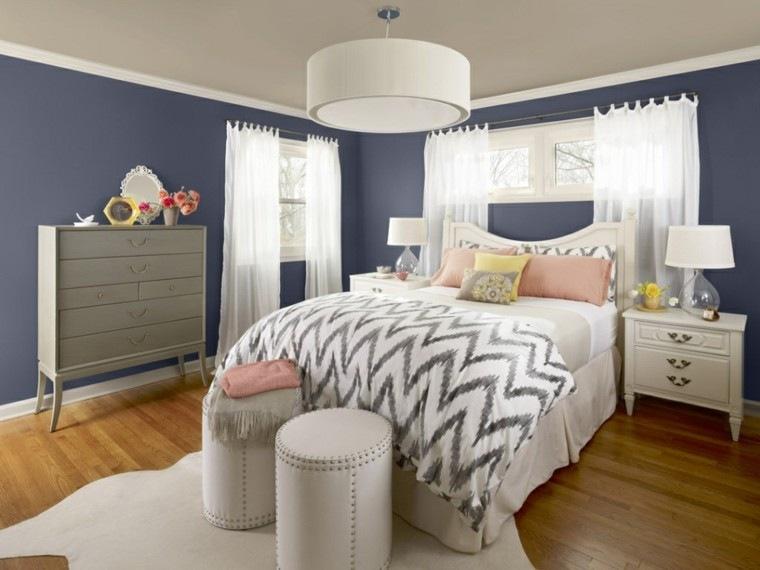 variante azul estilo muebles madera