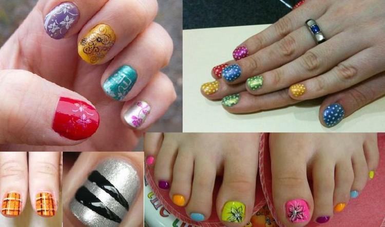 varios diseños uñas colores