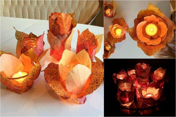 velas colores mesa centro flores