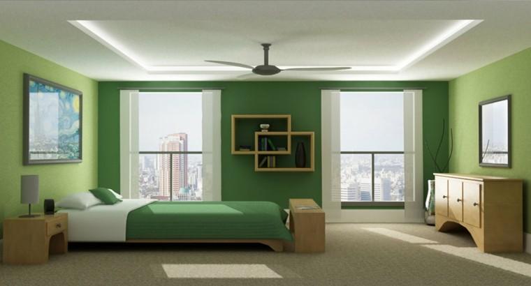 verde rayas plantas techo ventilador
