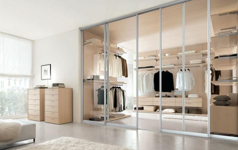 vestidor transparente puertas vidrio cristal