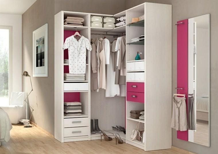 vestidor blanco cajones rosa