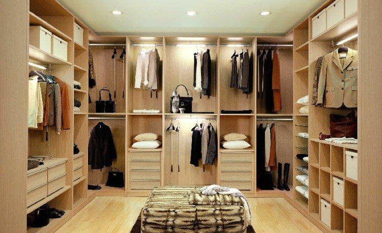 diseño vestidores madera color beige