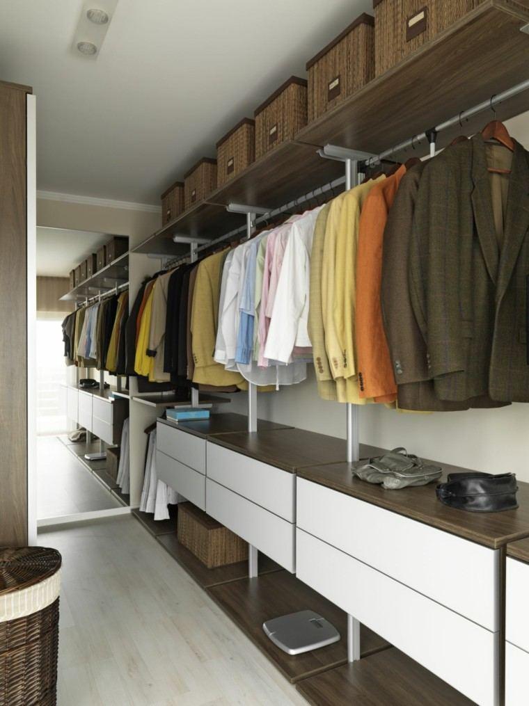 vestidor madera laminada blanca cajones