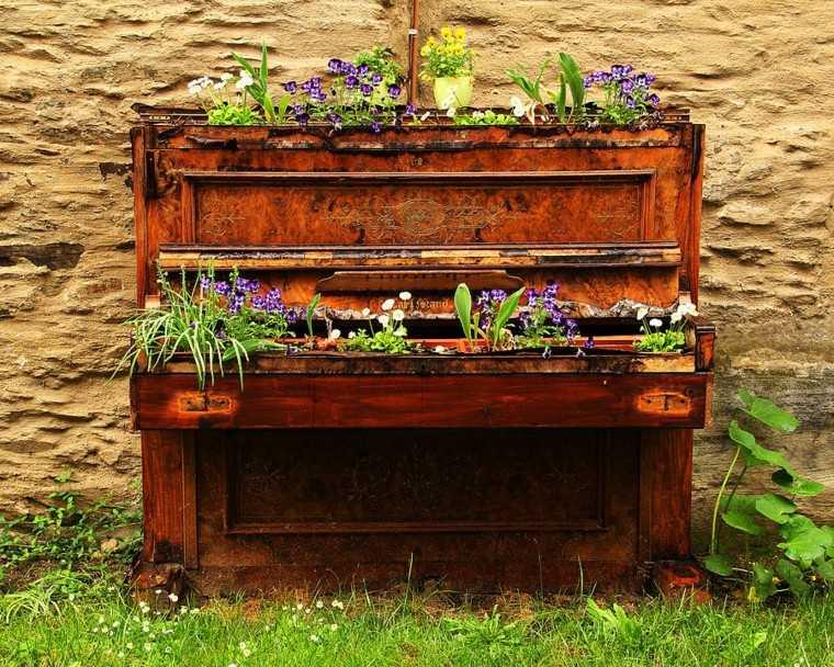 viejo piano idea decoracion elegante