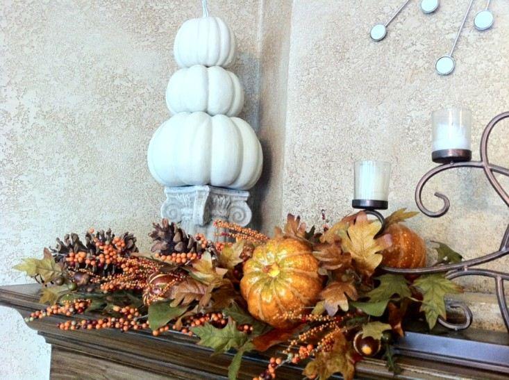 zona entrada adornos temporada otoño