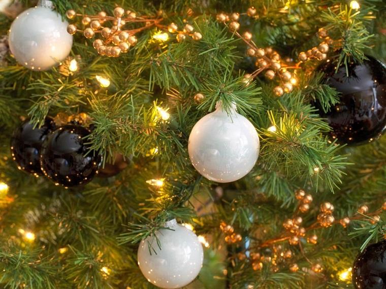 brian patrick flynn adornos navidad negros blanco arbol ideas
