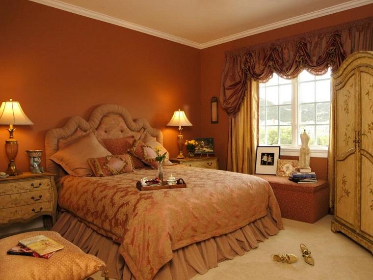 Dormitorio ideas de muebles y paredes en colores oto ales - Colores pared dormitorio ...