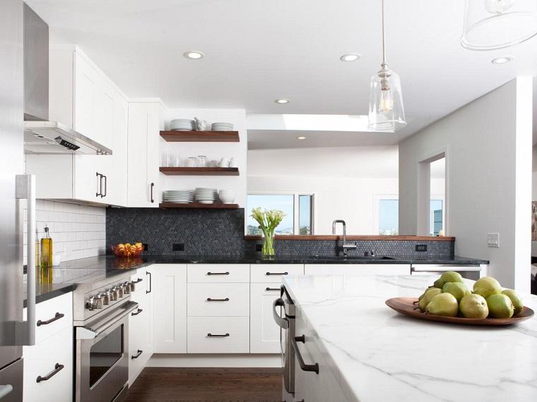 Cocinas Blancas Rusticas - Diseños Arquitectónicos - Mimasku.com