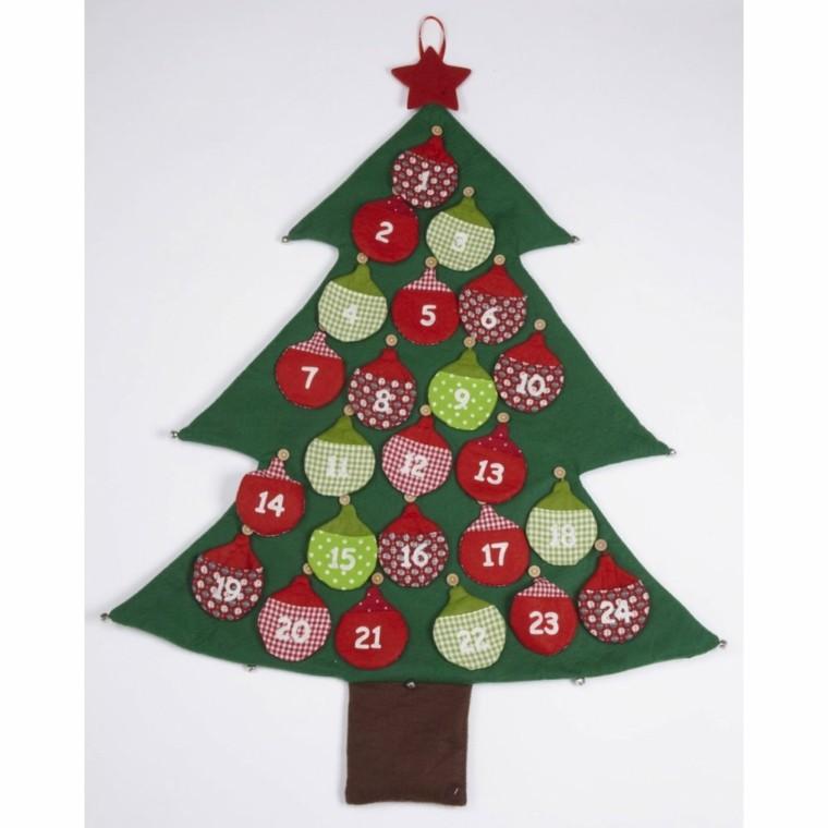 abeto navideño calendario adviento