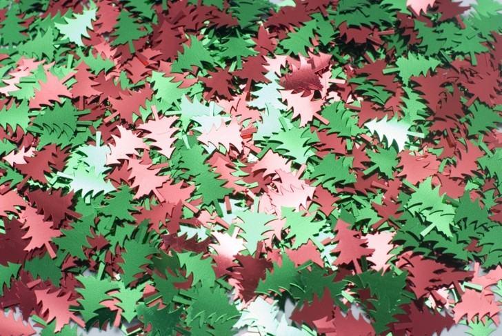 abetos navidad cartulina colores dos