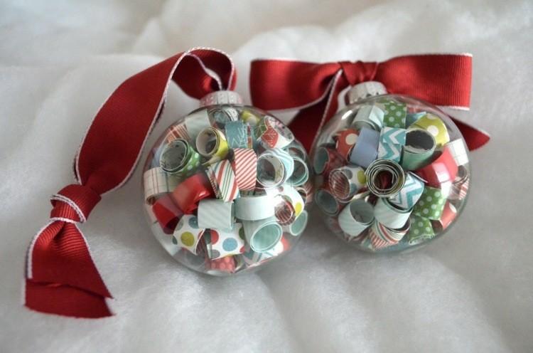 accesorios diy navidad colorido esferas cinta