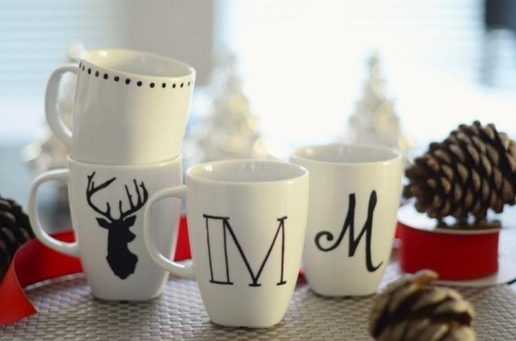 accesorios diy navidad conos pinos vasos