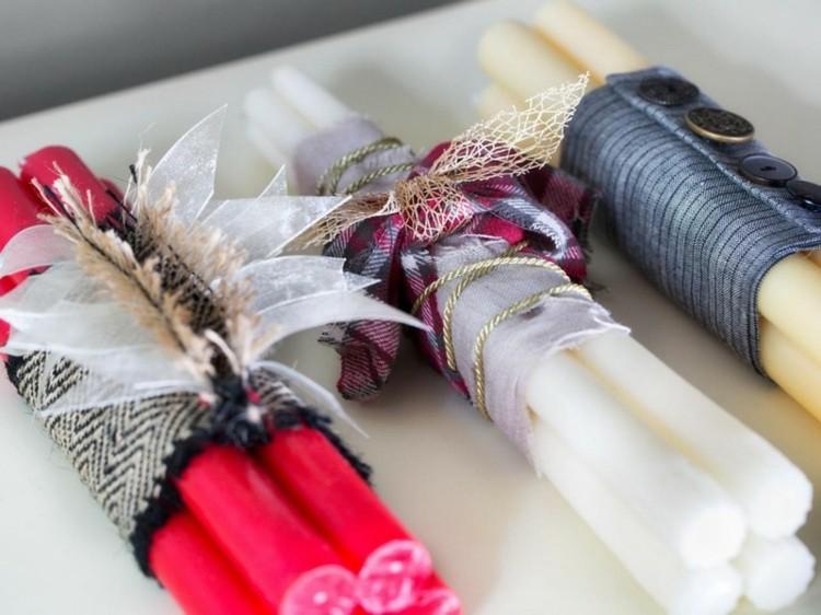 accesorios diy navidad velas decoradas colores