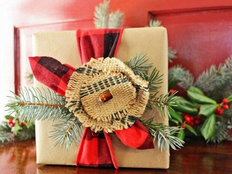 accesorios diy navidad yute saco regalo