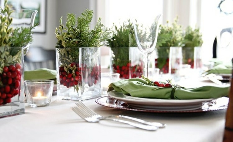 arandanos rojos comedor elegante detalles