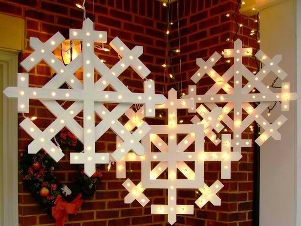 adorno navidad copos nieve blancos