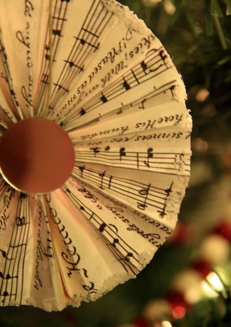 Partituras Musicales Para La Decoraci 243 N De Navidad