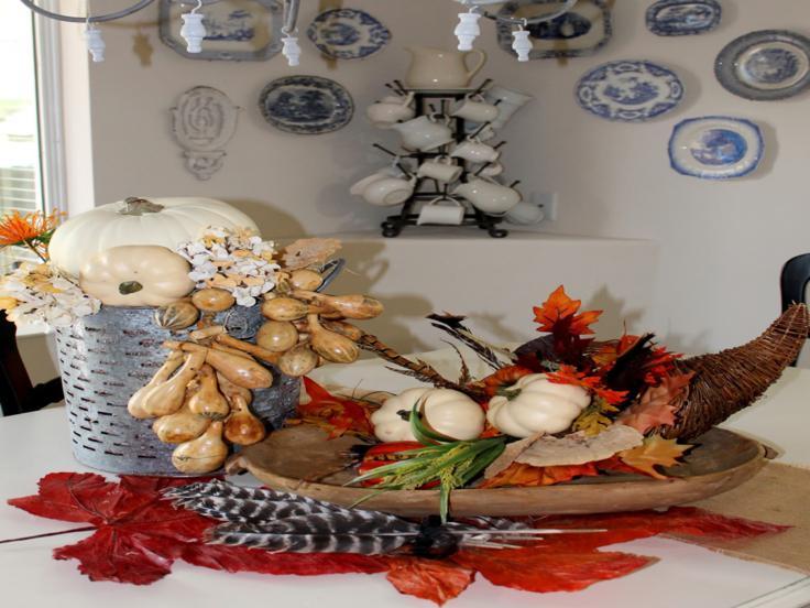 adorno centro mesa otoño