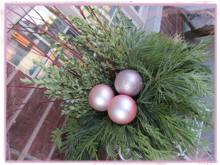 adorno navidad tres bolas colores